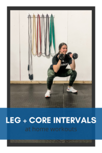 Intervals for legs and core